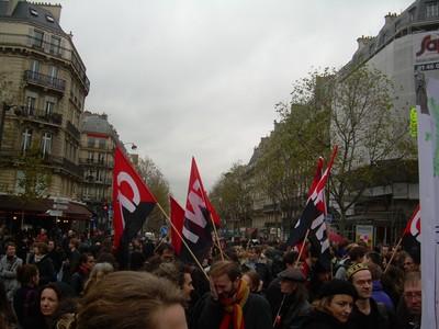 Foto manifestazione sciopero Parigi