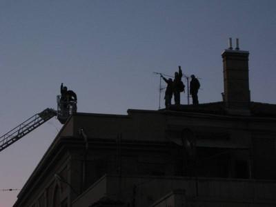 Occupanti sul tetto