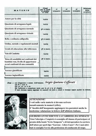 Pagella Cofferati - lato b