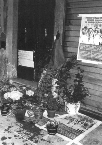 Il luogo dove Francesco Lorusso fu ucciso l'11 marzo 1977